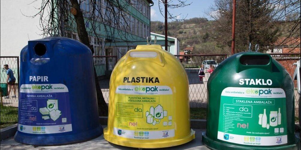 Obavijest o odvojenom prikupljanju otpada.